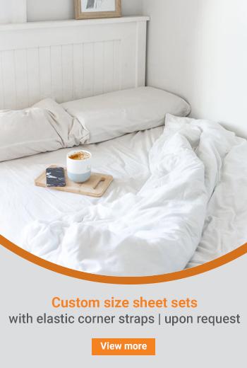Custom size sheet sets