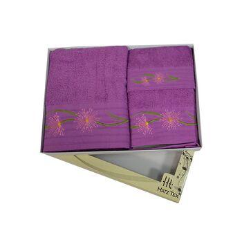 Σετ πετσέτες 3 ΤΜΧ Μοβ