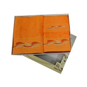 Σετ πετσέτες 3 ΤΜΧ Πορτοκαλί